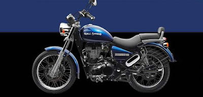 Royal Enfield Thunderbird 350 blue color side view image