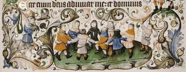 Medieval carollers