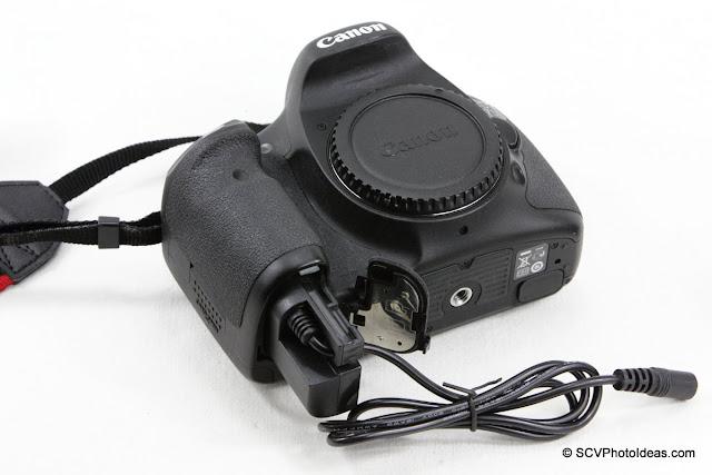 ACK-E6 compatible AC to DC Coupler w/ Canon EOS 7D