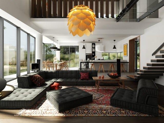 Phòng khách có không gian mở