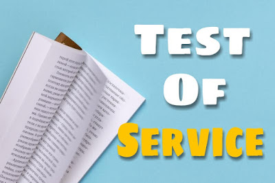 Test of service ( Short Stories )