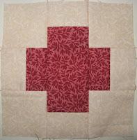Greek Cross sampler block for Cheri Payne's Everyday Patchwork