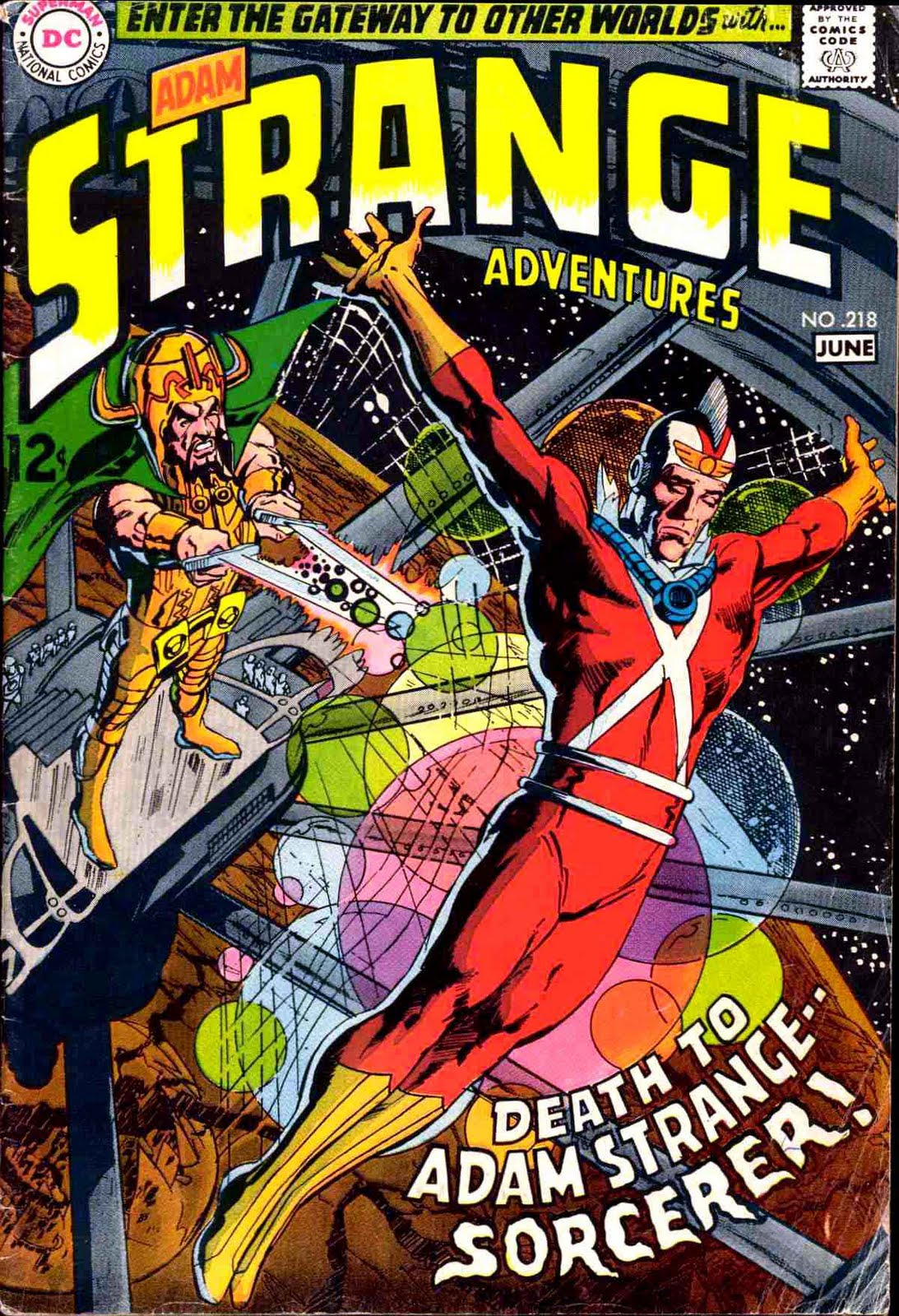 Strange Adventures v1 #218 dc comic book cover art by Neal Adams