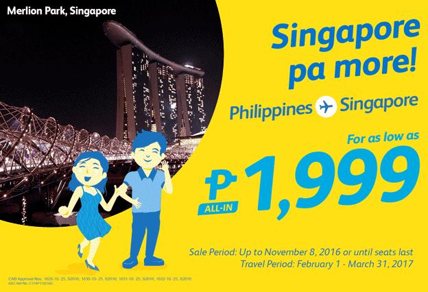 Cebu Pacific Promo Singapore 2016-2017