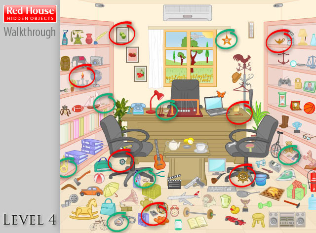 Red House Hidden Objects Level 4
