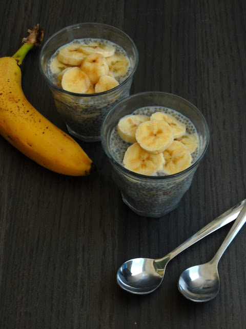 Vegan Chia seeds Banana Pudding