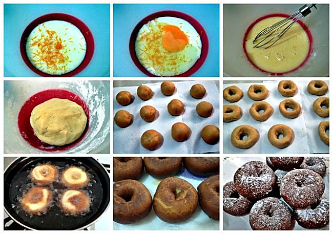 Preparación de las rosquillas de leche condensada