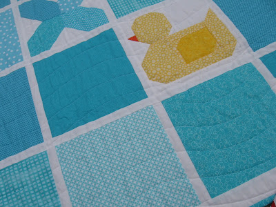 Tic Tac Quack by Canuck Quilter Designs - close up of duck block