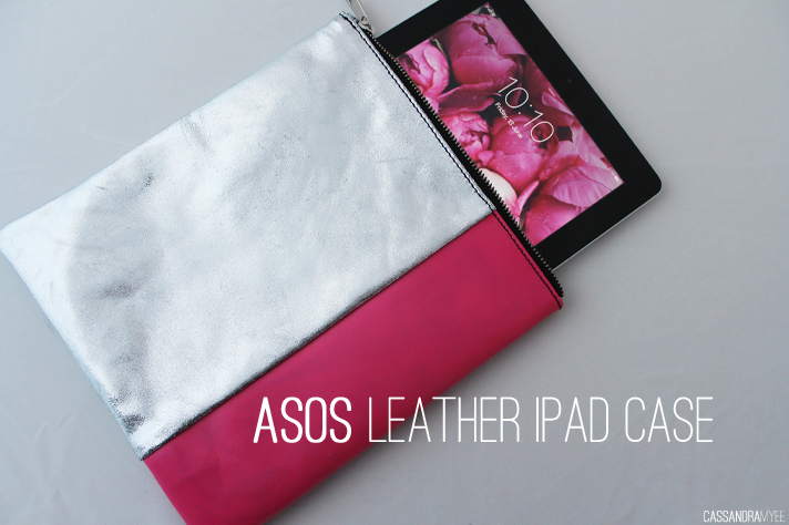 ASOS // Leather iPad Case - Metallic + Neon - cassandramyee
