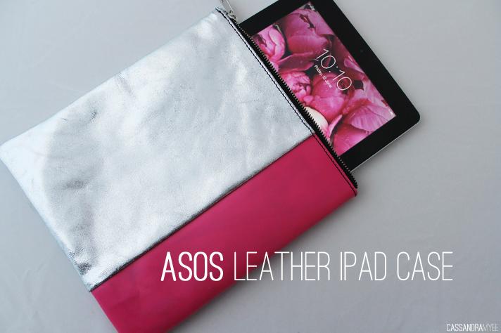 ASOS // Leather iPad Case - Metallic + Neon - cassandramyee