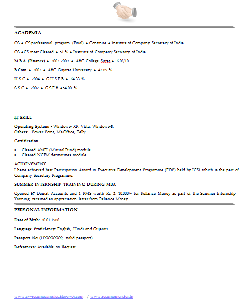 Over 10000 CV And Resume Samples With Free Download: Best