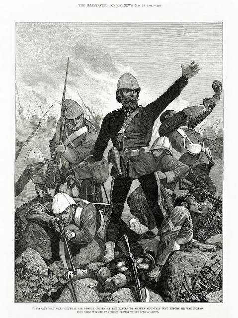 """General Sir George Colley at the Battle of Majuba Mountain Just Before He Was Killed"""