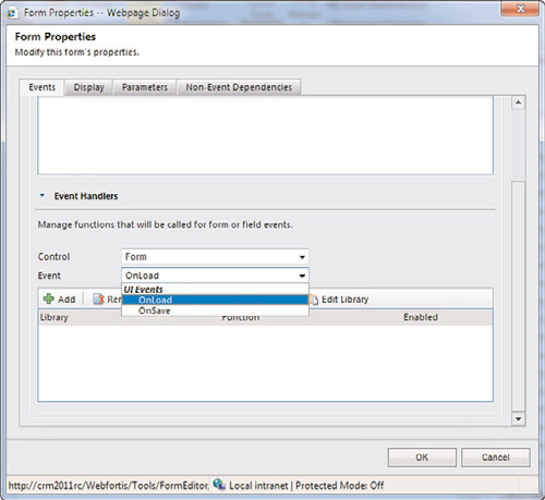 Microsoft Dynamics CRM Form Javascript events tutorials free