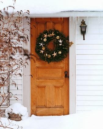 coastal Christmas front door