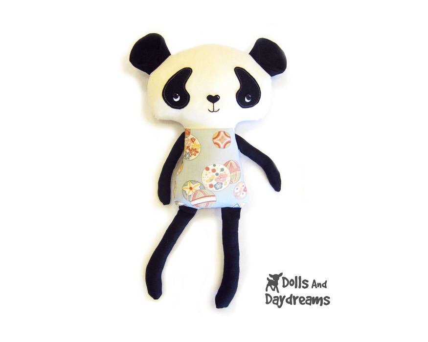 Dolls And Daydreams - Doll And Softie PDF Sewing Patterns: Panda ...