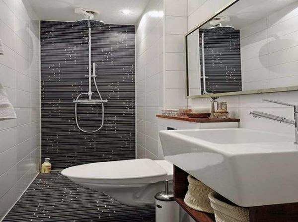 Kamar mandi minimalis batu alam