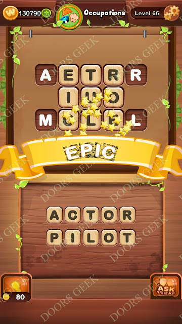 Word Bright Level 66 Answers, Cheats, Solutions, Walkthrough for android, iphone, ipad and ipod