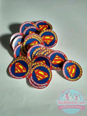STIKER PUDING SUPERMAN