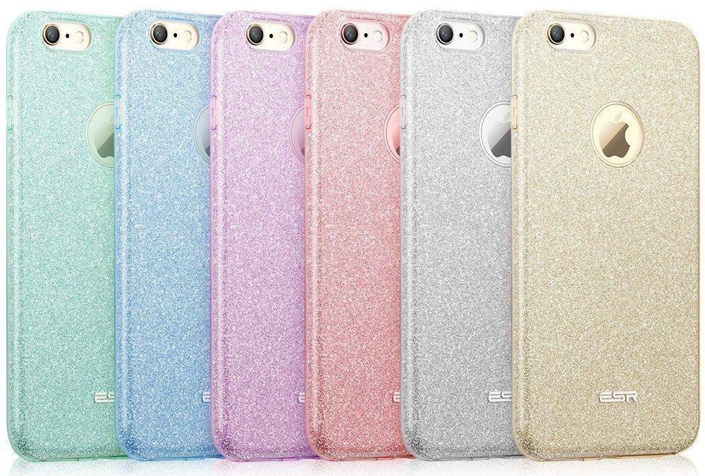 Custodia per iPhone 6 e 6s effetto brillantinato disponibile in vari colori
