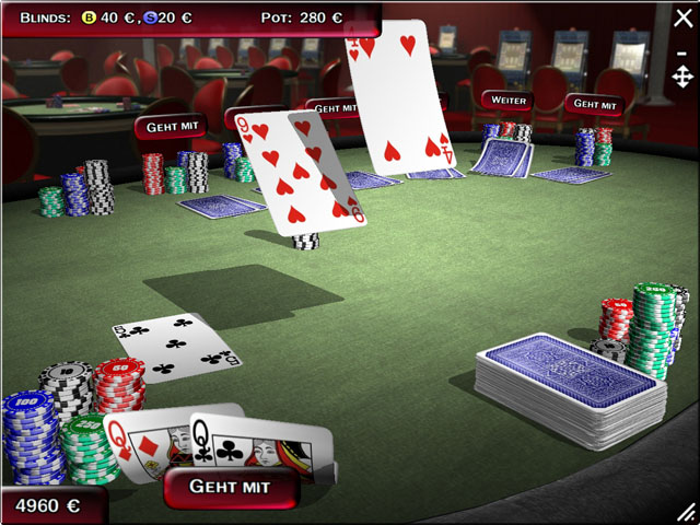 Casino with 3 card poker