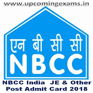 NBCC India JE & Other Various Post Admit Card 2018  Check Here