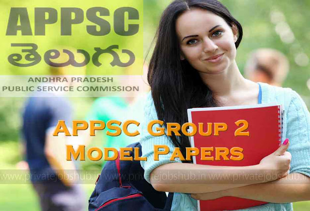 APPSC Group 2 Model Papers