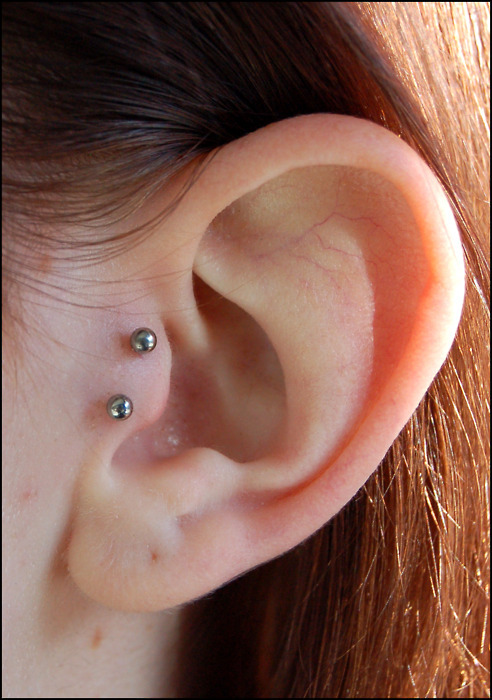 Inverted Tragus Piercing