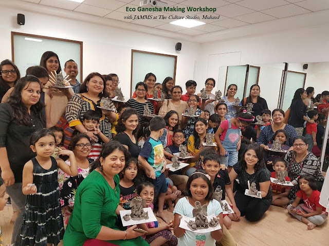 JAMMs mommy+kids Eco Ganesha Idol Making workshop at The Culture Studio, Mulund