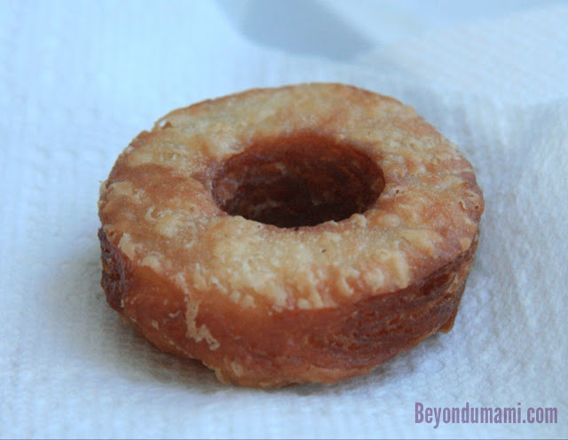 Dinner with Julie's cronut recipe after deep frying.