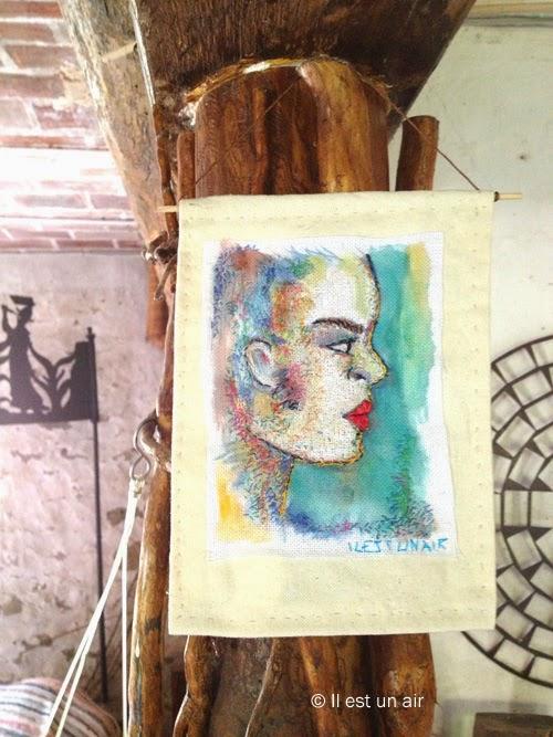 Broderie et portrait
