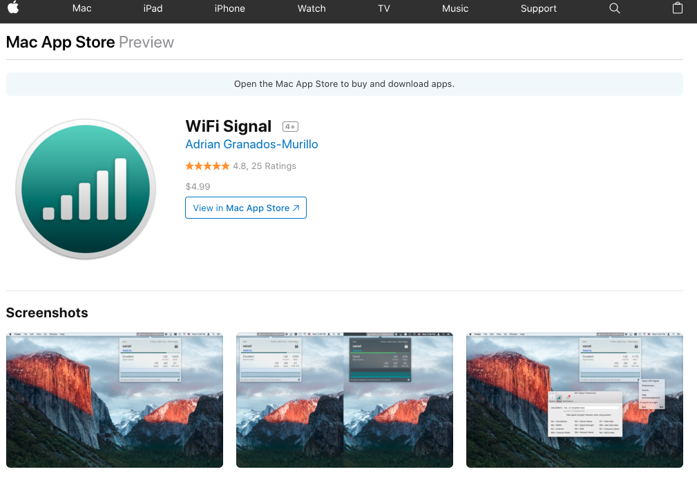 WiFi Signal Mac App Store Preview ~ Inhome WIFI Speed Test