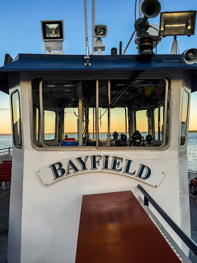 The Pilot House of the Madeline Island Ferry (MV Bayfield)