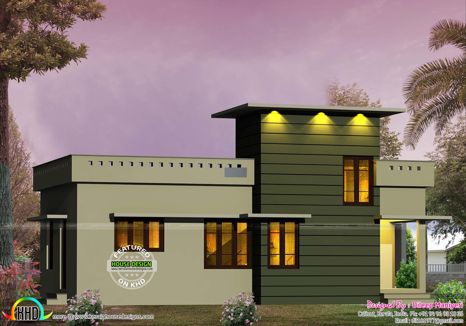600 sq-ft small contemporary house - Kerala home design ...