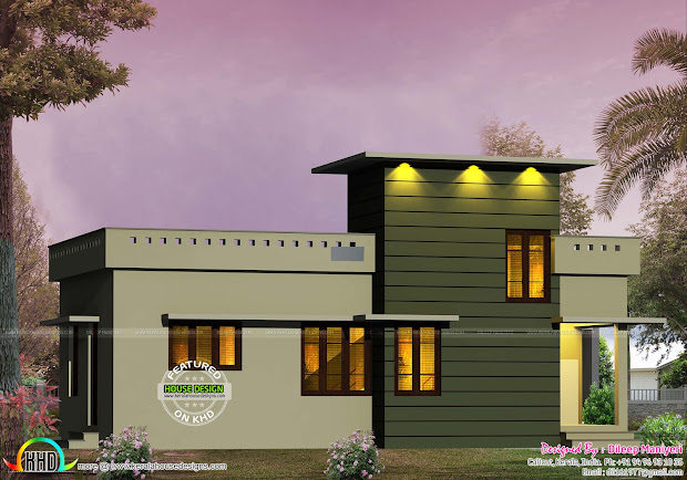 600 Sq-ft Small Contemporary House - Kerala Home Design