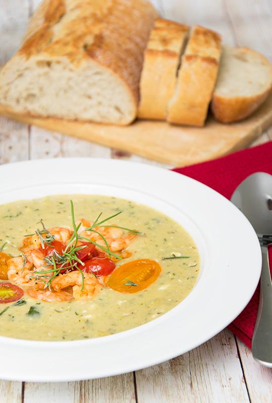 Rezept Zucchini-Feta-Suppe