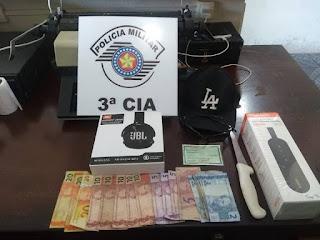 Policia Militar prende autor de roubo em Ilha Comprida
