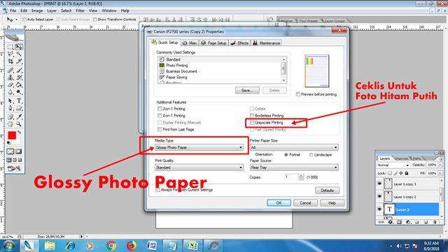 Cara Print Pas Foto Berbagai Ukuran di Photoshop