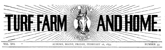 Once Recognized as the Maine Horsemen's Newspaper