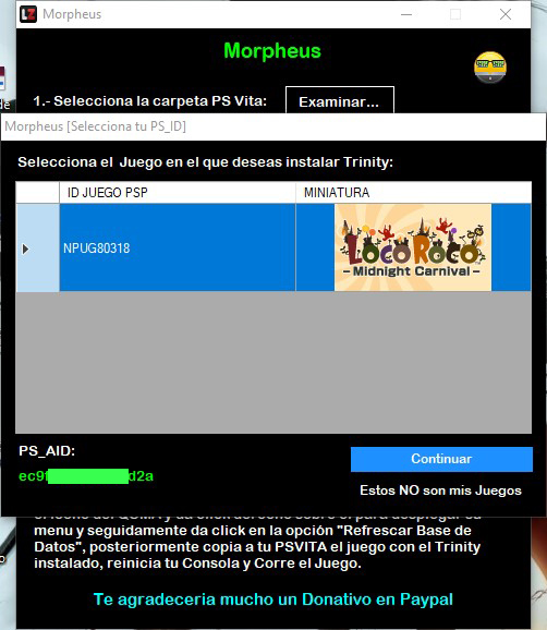 Morpheus - Herramienta para Instalar Trinity en PS Vita › Scene