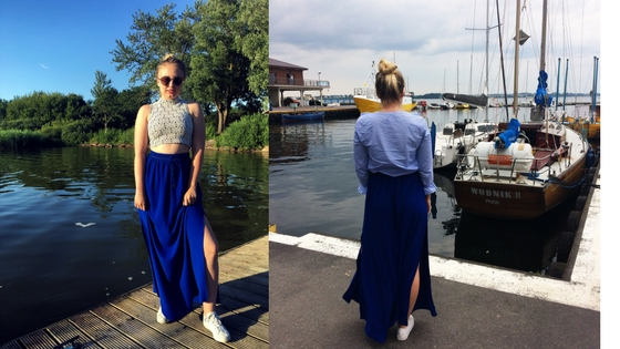 THRIFTED MAXI SKIRT | TWO OUTFITS