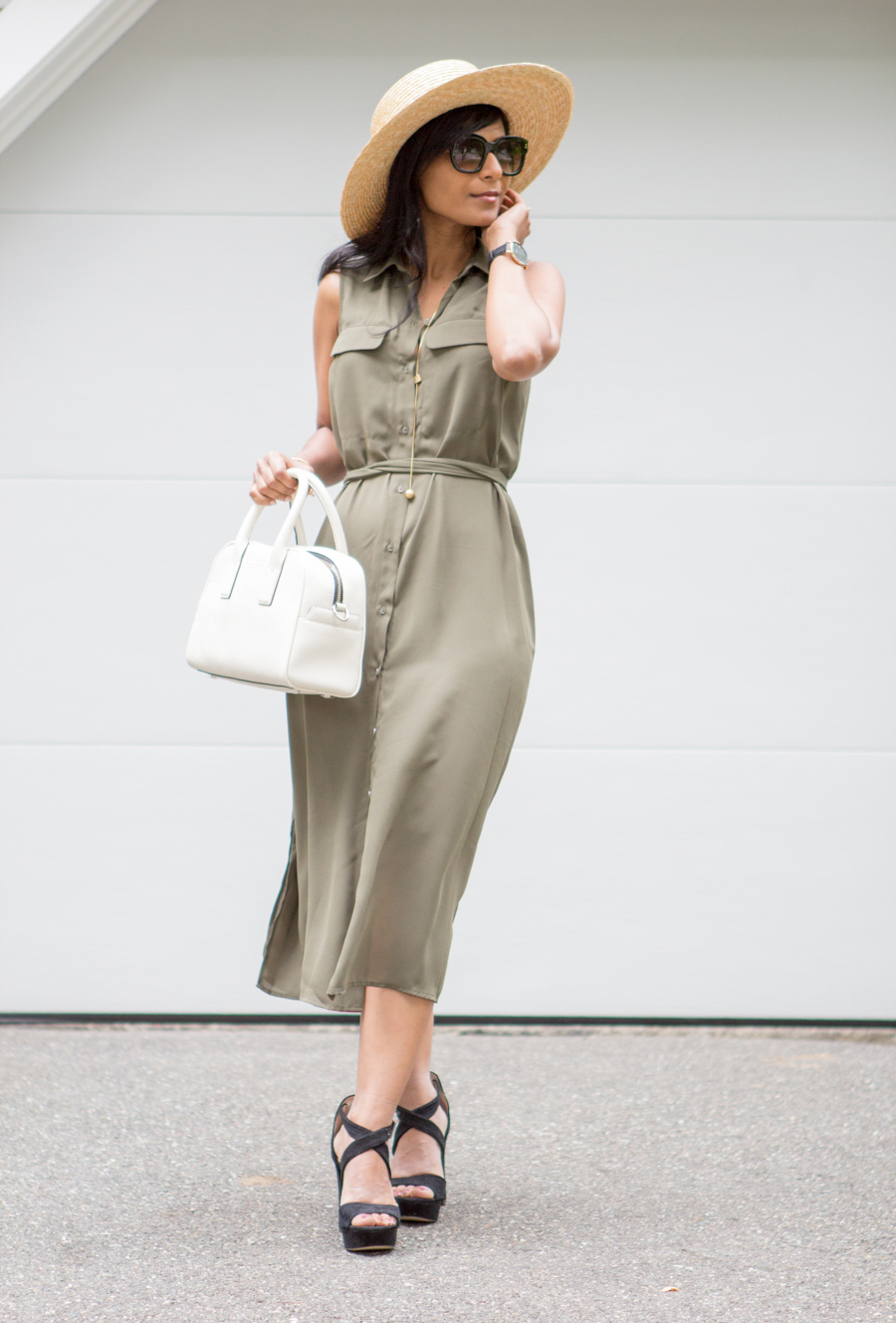 targetstyle, target clothes, budget style, summer style, personal styling, better wardrobe, petite fashion, personal stylist, marc jacobs, boater hat, summer dress, casual outfit, summer layer, sleeveless vest, work style