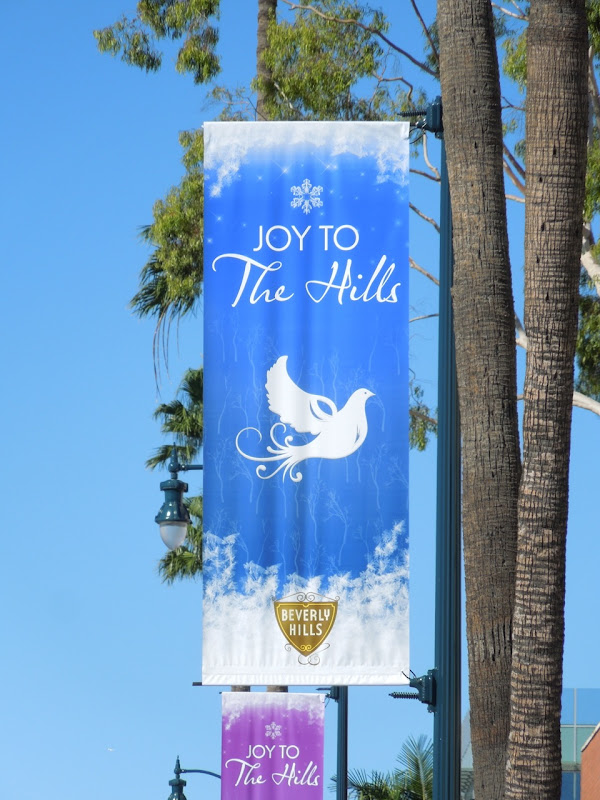 Joy to The Hills dove Christmas banner