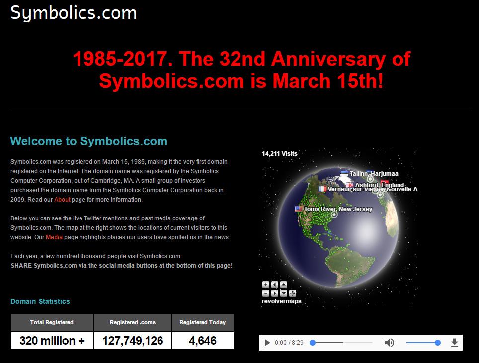 Prvi registrovani domen na svetu