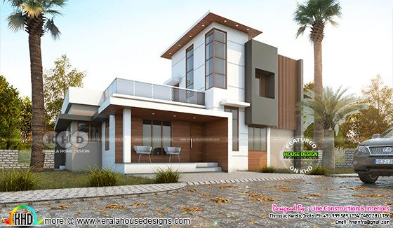 1417 square feet 3 BHK modern contemporary home