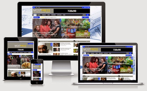 Most Press Responsive News Magazine Blogger Template