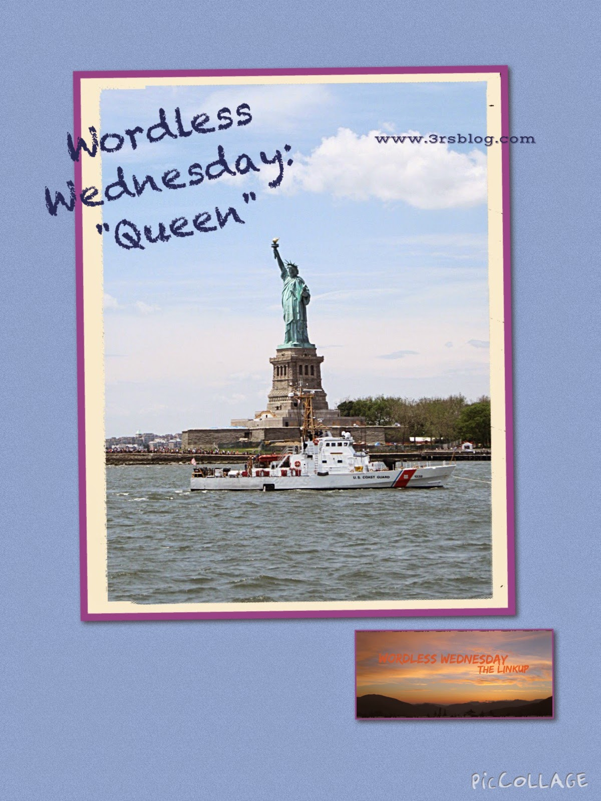 """WordlessWednesday photo collage """"Queen"""" The 3 Rs Blog"""