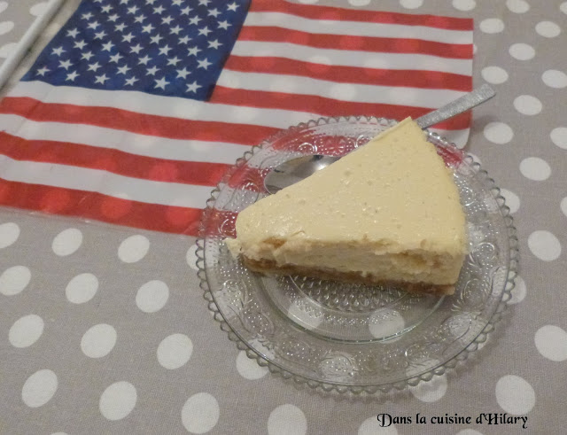 Le traditionnel cheesecake New-yorkais