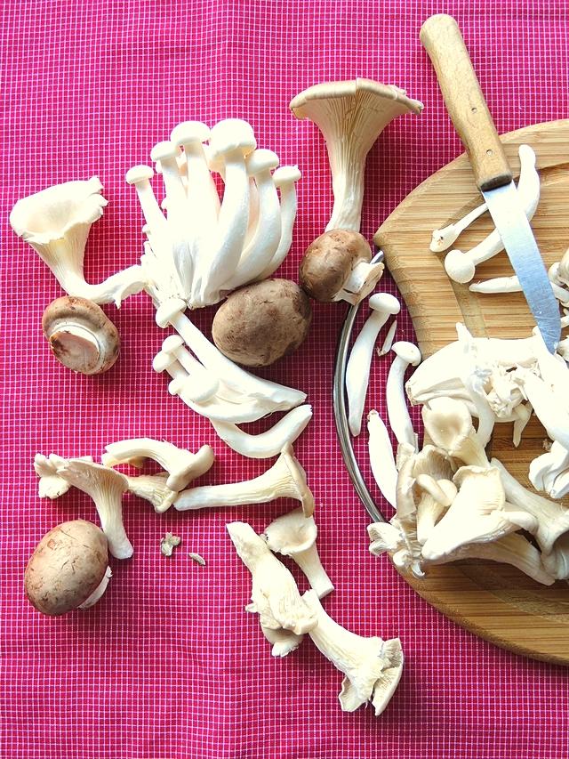 vegetarisch koken met paddenstoelen