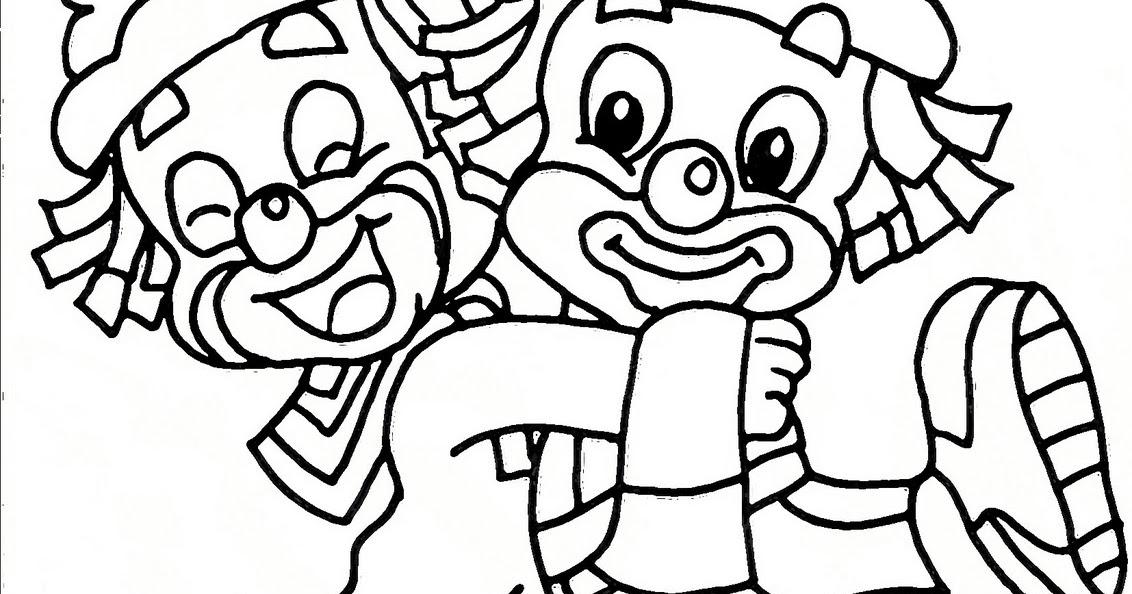 25 Desenhos Do Angry Birds Para Colorir Em Casa: Patati Abraçando Patata Para Colorir 5