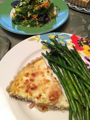 Quiche Alsacienne with Asparagus & Salad